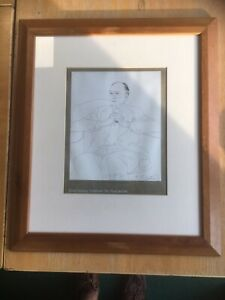 David Hockney Lithograph Signed By Hand And In The Plate Framed
