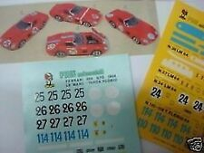 FERRARI 250 GTO 1964 LE MANS DECALS KIT