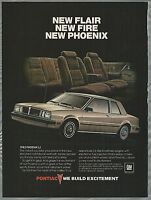 1983 PONTIAC PHOENIX advertisement, Phoenix LJ coupe ad