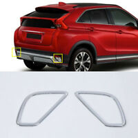 For Mitsubishi Eclipse Cross 2018-2020 Chrome Rear Fog Light Lamp Cover Trim 2pc