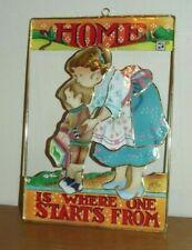 """Vintage Mary Engelbreit """"Home Is Where One Starts From� Enesco Sign Shell"""