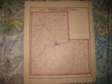 Superb Antique 1874 Woodville Township Sandusky County Ohio Handcolored Map Nr