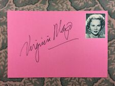 Virginia Mayo - The Best Years of Our Lives - Autographed in 1977