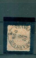 Norddeutscher Postbezirk, Wertziffern Nr. 8 gestempelt