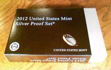 2012 S Proof Set Original Black Box & COA 14 Coins 90% Silver US Mint