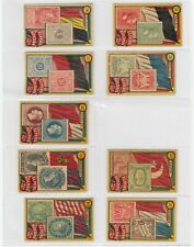 Peru Roldan- Flags and Stamps x 9 Cards (Lot 4)