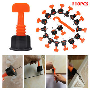 110pcs Floor Wall Tile Leveler Tools Construction Reusable Tile Levelling System
