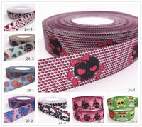 Wholesale! 10yds 1'' (25mm) Crafts printed grosgrain ribbon Hair bow sewing gift