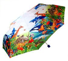 NEW Childrens Childs Kids Automatic Pop-Up Animal EARTH Theme Umbrella Rain
