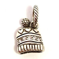 Brighton Winter Breeze Bead Charm, JC0022, Brushed Silver Finish, New