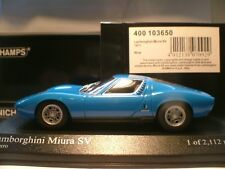 EXTREMELY RARE EARLY MINICHAMPS 1/43 1971 LAMBORGHINI MIURA SVSUPERB DETAIL NLA