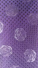 Turnbull and Asser Purple Flower sol Tie Neuf avec étiquette main Made in England 145 £