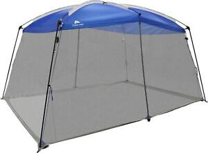 Large Roof Screen House One Room Camping Tent Outdoor Shelter 13 ft  X 9 ft Blue