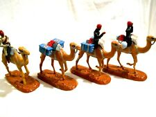 4-Historex Heavy Lead 54mm Soldiers on Camel Back