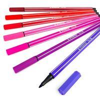 STABILO PEN 68 Fibre Tip Pens – Assorted Set of 7 Colours – Blossom Tones