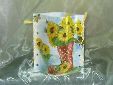 Deko Windlicht Sonnenblumen im Stiefel Schmetterling Tischlicht Mitbringsel