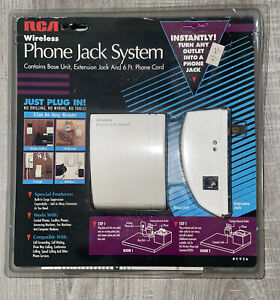 RCA Wireless Phone Jack System, Base + Extension unit 6' Phone Cord NEW