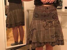 Desigual skirt women. Size 38 (Medium). Light brown