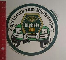 Aufkleber/Sticker: Diebels Alt zugelassen Zum biertransport (100117173)