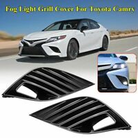 Front Bumper Fog Light Lamp Grill Bezel Cover For Toyota Camry SE XSE 2018 2019