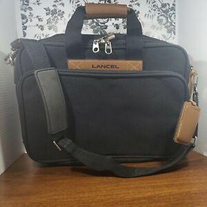 "LANCEL Black 16"" Canvas Luggage Travel Bag"