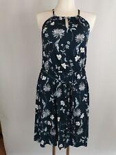 Laura Scott Dress Racerneck Kleid, blau geblümt, Gr. 40