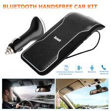 Wireless Bluetooth Multipoint Hands Car Kit Speakerphone Speaker Visor Clip