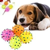 Pet Dog Training Toy Cat Puppy Chew Sound Play Squeaky Rubber Toys Squeaker Ball