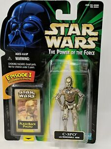Star Wars Power of the Force C-3PO Figure Flashback Photo Removable Arm