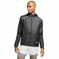 Nike Running Repel Reflective Jacket BV4866 010 Hooded Blk Waterproof Mens LARGE