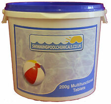 5kg 200g Large Multifunctional Chlorine Tablets for Swimming Pools