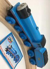 Thomas Wooden Railway Gordon 1998 Allcroft Vintage Blue Engine Tender Train Set