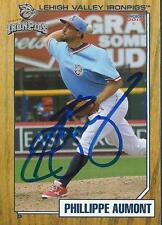 Phillippe Aumont 2014 Lehigh Valley Ironpigs Signed Card