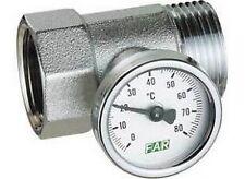 """3432 1 Raccordo portatermometro completo di termometro 1"""" FAR"""