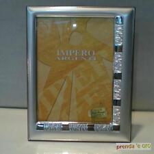 """CORNICE ARGENTO 925 """"IMPERO ARGENTI"""" RETRO LEGNO DIMENSIONE FOTO 13 X 18 13059"""