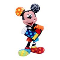 Disney by Britto Mickey Mouse Holding Heart Stone Resin Mini Figurine