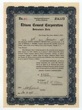 Edison Cement Corporation Debenture Note