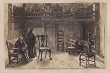 CABINET CARD ENGRAVING OF EARLY PIONEER WORKSHOP