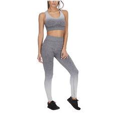 f4864bebd8e96 Women's Ombre Sports Gym Set Leggings & Sports Bra Crop Top Racer Back  Gradient