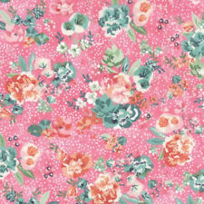 Moda Basic Grey Fresh Cut Floral Peony District Fabric in Candy Pink 30391-12