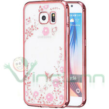 Pellicola+Custodia Luxury Diamond per Samsung Galaxy S6 G920F fiori brillantini