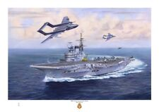 HMS VICTORIOUS Fine Art A3 size print from an original painting by Ross Watton