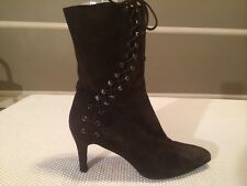 Women's JILL STUART Suede Leather Boots Brown Size 9M