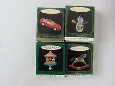 Hallmark Keepsake Ornaments Lot4 Miniature Corvette,Horse,Big Top,Snowman/New!