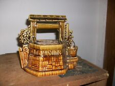 MCCOY WISHING WELL PLANTER BROWN POTTERY USA