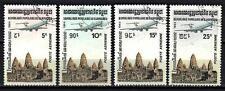 Avions Kampuchea (60) série complète de 4 timbres oblitérés