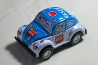 "New Vintage Tin Toy JAPAN Sanko Friction 3"" Volkswagen Beetle Rescue Police Car"