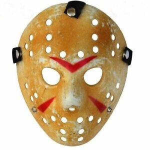 Deluxe Jason Hockey Mask Halloween Friday 13th Adult Fancy Dress Horror Costume