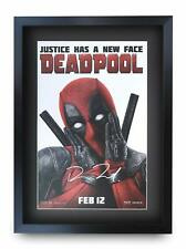 Deadpool Ryan Reynolds Gift Idea Printed A3 Poster Signed Picture for Movie Fans