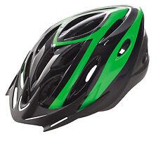 Casco de Ciclismo Deportivo Negro y Verde para Bicicleta Carretera Road MTB 3489